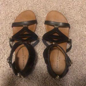 Rock & Candy black sandals